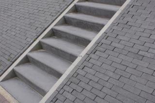 Betonnen trap du mont beton